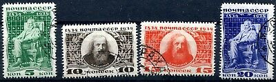 1934 - Russia - Birth Centenary Of Mendeleev Set Of 4, Used