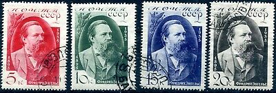 1935 - Russia - Death Anniversary Of Engels Set Of 4, Used