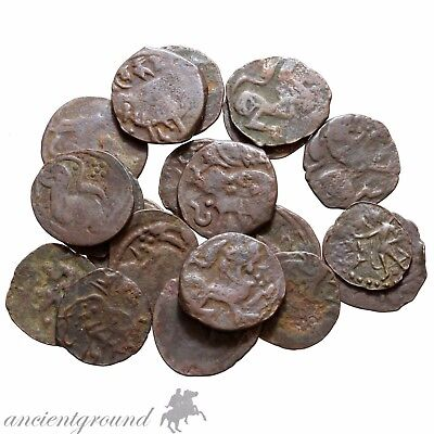 Lot Of 20 Clean Shahi Kings Spalapati  Deva 750-900 Ad Ae Coins