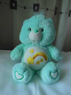 Pre-owned Mint Glow in the Dark Wish Care Bear 2003