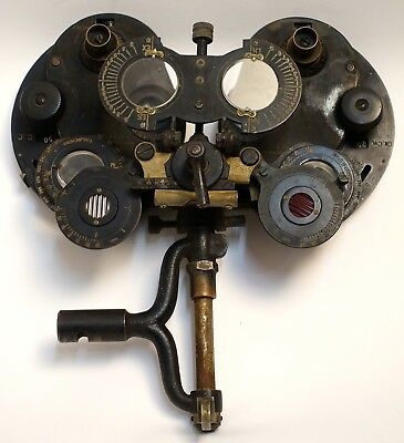 Early 20th C Optical Phoropter Vision Tester By General Optical Co.  Mount Verno