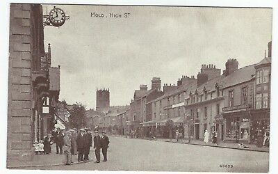 Postcard High Street Mold Flintshire