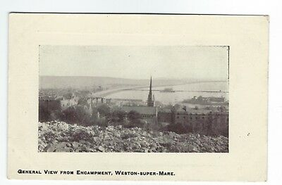 Early Postcard General View from Encampment Weston super Mare