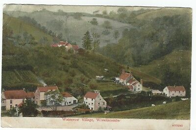 1904 Postcard Waterrow Village Wiveliscombe Somerset published by EJ Thorne