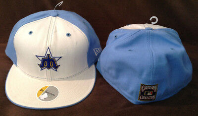 Milwaukee Brewers MLB NEW ERA 59FIFTY Fitted Hat BABY BLUE Cooperstown 7 1 2 d2d1b9f96a2e