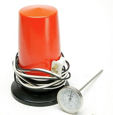 Paterson Red Safety Light For Darkroom & Printing & Voss Processing Thermometer.