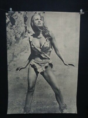 HUGE Vintage Raquel Welch One Million Years BC POSTER 1967 Famous Faces NR!
