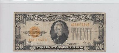 $20 Gold Certificate 1928 Always A Popular Note