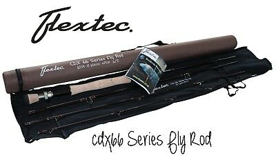 New Flextec Graphite Carbon CDX66 Trout Fly Fishing Rod 9ft #5/6 Rrp £239.99