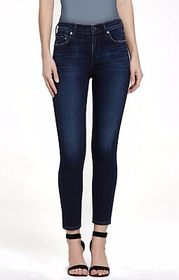 Citizens of Humanity Rocket Crop High Rise Skinny Jeans Dark Wash Starlite sz 25