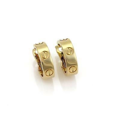 CARTIER Love Collection Open Hoop 18k Yellow Gold Earrings