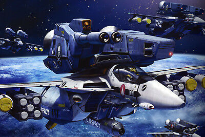 Macross/Robotech Skull Squad VF-1 Poster 12inchesx18inches Free Shipping