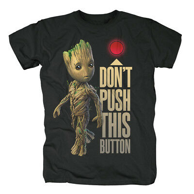 GUARDIANS OF THE GALAXY - Groot Button T-Shirt