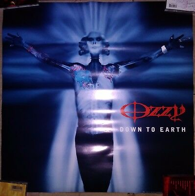 OZZY OSBOURNE Down To Earth promo poster Black Sabbath heavy metal doom
