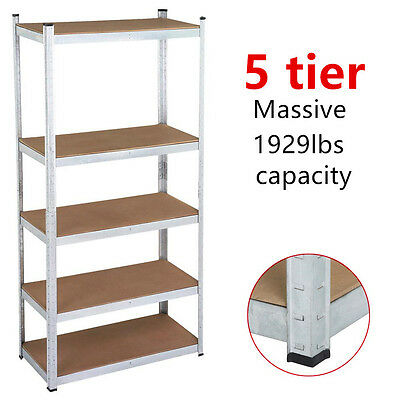 Warehouse Shelf Garage Steel Metal Storage 5 Level Adjustable Shelves Rack Unit