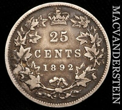 Canada: 1892 Twenty Five Cents- Silver !! Scarce !! High Grade !! #w871