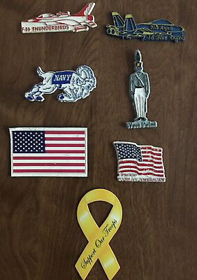 United States Of America Kitchen Magnets Lot - Seven (7) Different