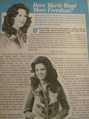 Marie Osmond, Full Page Vintage Clipping, Osmonds Brothers