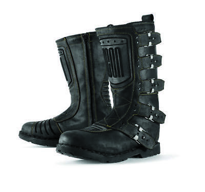 Icon Women's 1000 Elsinore Leather Boots Black 7.5 US