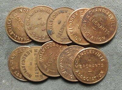 10 Chandlerville IL Provisional Tax Tokens Merchants Ass'n M&D ILL-L20