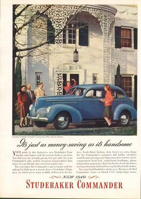 Just as money-saving as handsome Studebaker ad 1940