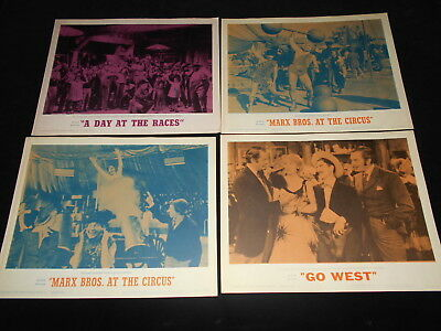 Marx Brothers Groucho Harpo Chico  7 R62 Lobby Cards  Races Circus Go West