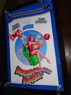 Roller Coaster Rabbit  Orig Double Sided  Rolled One Sht   Roger Rabbit  Cartoon