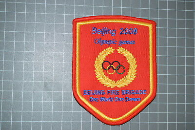 Beijing China Fire Brigade 2008 Olympic Games Patch (B9)