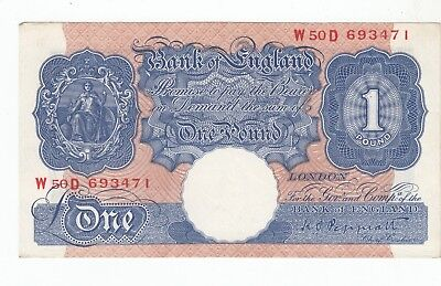 GB £1 Banknote with 2 Vertical Folds