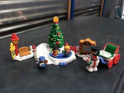 Fisher Price Little People Christmas Tree Lightning & Discovery Park Rare  Find