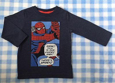 Next Baby Boy Navy Spider-Man Top 9-12 Months