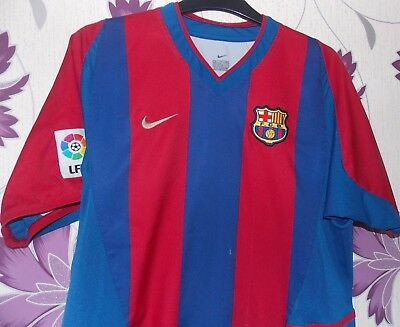 Nike Barcelona vintage home shirt 2002-2003 size on tag XL boys 36 in chest