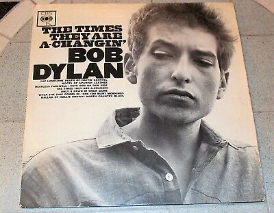 Bob Dylan Lp The Times They Are A Changin' Cbs Bpg 62251 Flipback 33 1964