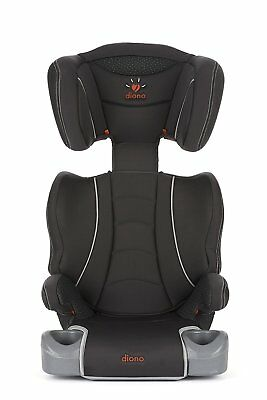 Diono Hip High Back Booster Car Seat with Cup Holders Slate, Group 2-3 A