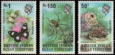 British Indian Ocean Territory #54-56 set MNH VF