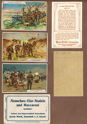 MILITARY: Collection of RARE Victorian Trade Cards from GERMANY (1900)