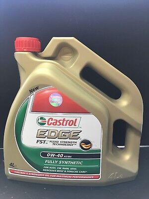 Castrol Edge FST  0W-40 FST A3/B4 synthetic engine oil 0W40 4 Litres 4L