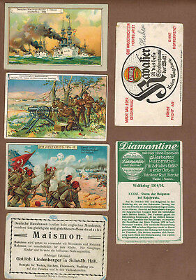 MILITARY: Collection of RARE Victorian Trade Cards from GERMANY (1900)a