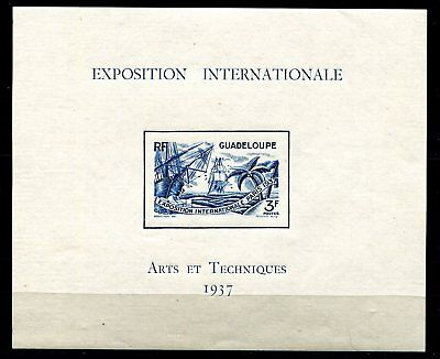 France Guadeloupe  Exposition Internationale An 1937 Non Dentele Imperf Neuf**