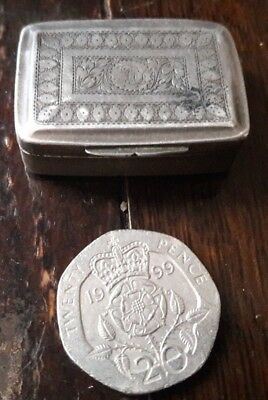 Georgian 1819, Hallmarked Silver Vinaigrette,by T.northcote ,see Pictures