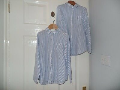 2 blue/white blouses from 'ZARA GIRLS' aged 5/6 years