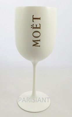 Moet Chandon Ice Imperial Glasses White Acrylic Champagne Glasses NEW /1 x Flute