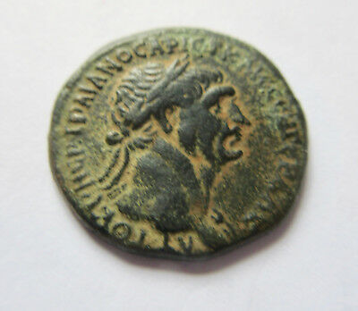 Ae-25 of Trajanus from Laodiceia in Syria     Rv. bust of Tyche right