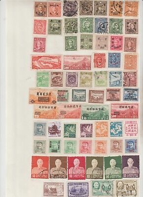 Selection Of China Stamps, Mounted On Sheets . See Pictures