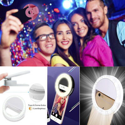 Selfie Portable LED Ring Fill Light Camera Photography iPhone Android Phone Gift