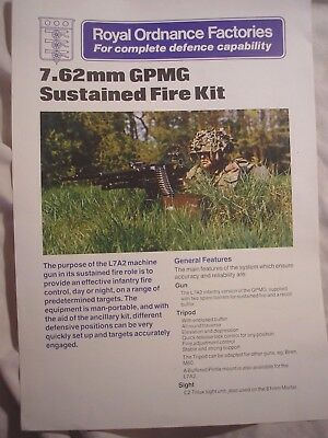British Army GPMG Machine Gun Royal Ordnance Factories History Weapons