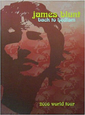 James Blunt! Back To Bedlam 2006 World Tour Book New!!