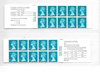 Machin - pair of 65p folded booklets - FC1 A & B - unmounted mint