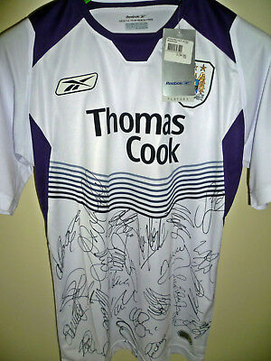Hand Signed Manchester City Shirt Bnwt 2004/05 Fa Premier League Squad