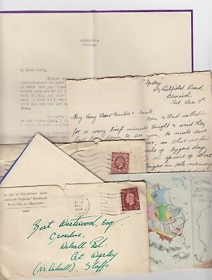 1935 - 1937 Old Letters to Great Wyrley Walsall Staffordshire
